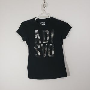 Adidas Women's Black Tee Shirt Sz S/P